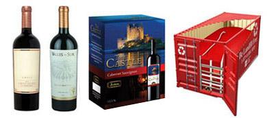 Collage con productos de vino para nuestros clientes